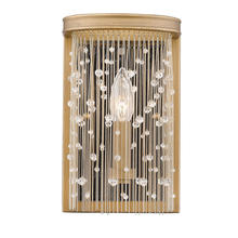 Golden 1771-WSC PG-CRY - Marilyn CRY Wall Sconce in Peruvian Gold with Crystal Strands
