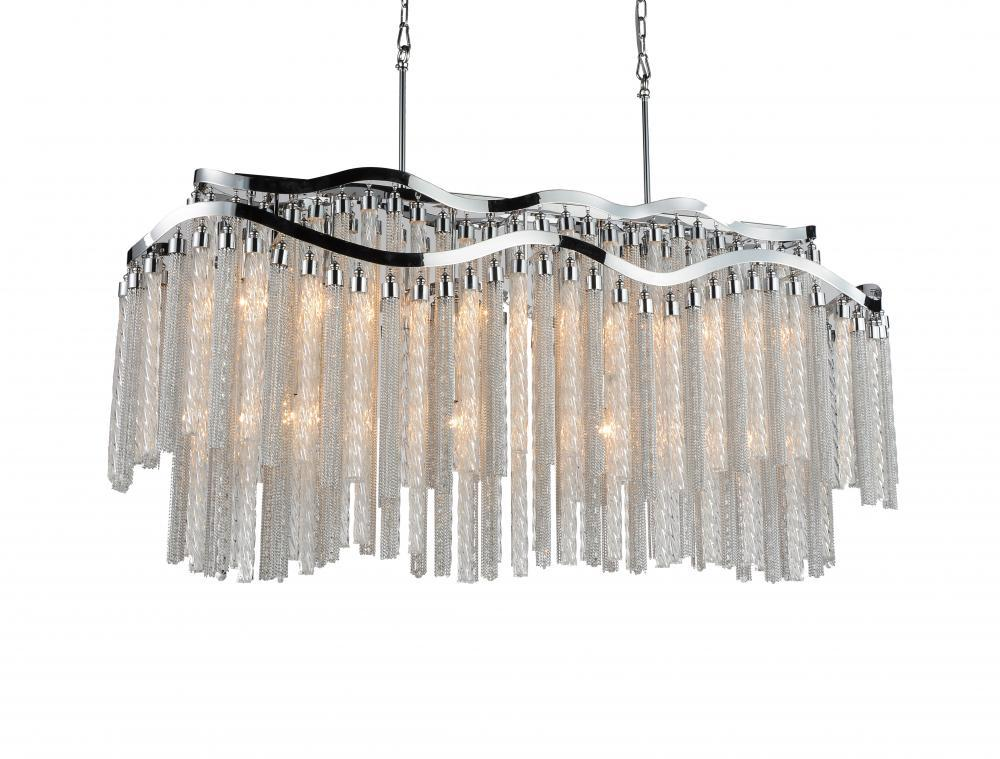12 Light Down Chandelier with Chrome finish : 5648P47C-RC